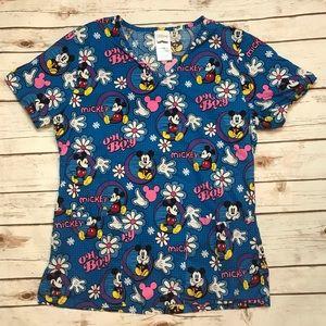 Disney Mickey Mouse Nurse Scrub Top